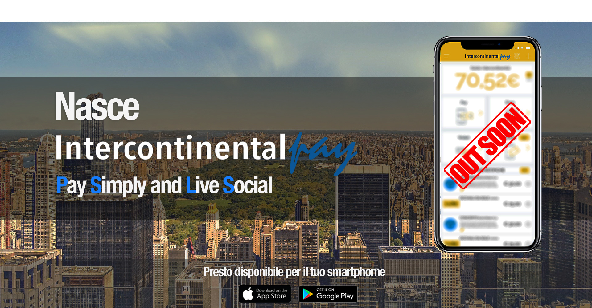 IntercontinentalPay pay simply live social soon on line wallet smartbank